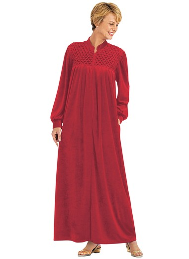 Zip-Front Velour Robe | CarolWrightGifts.com