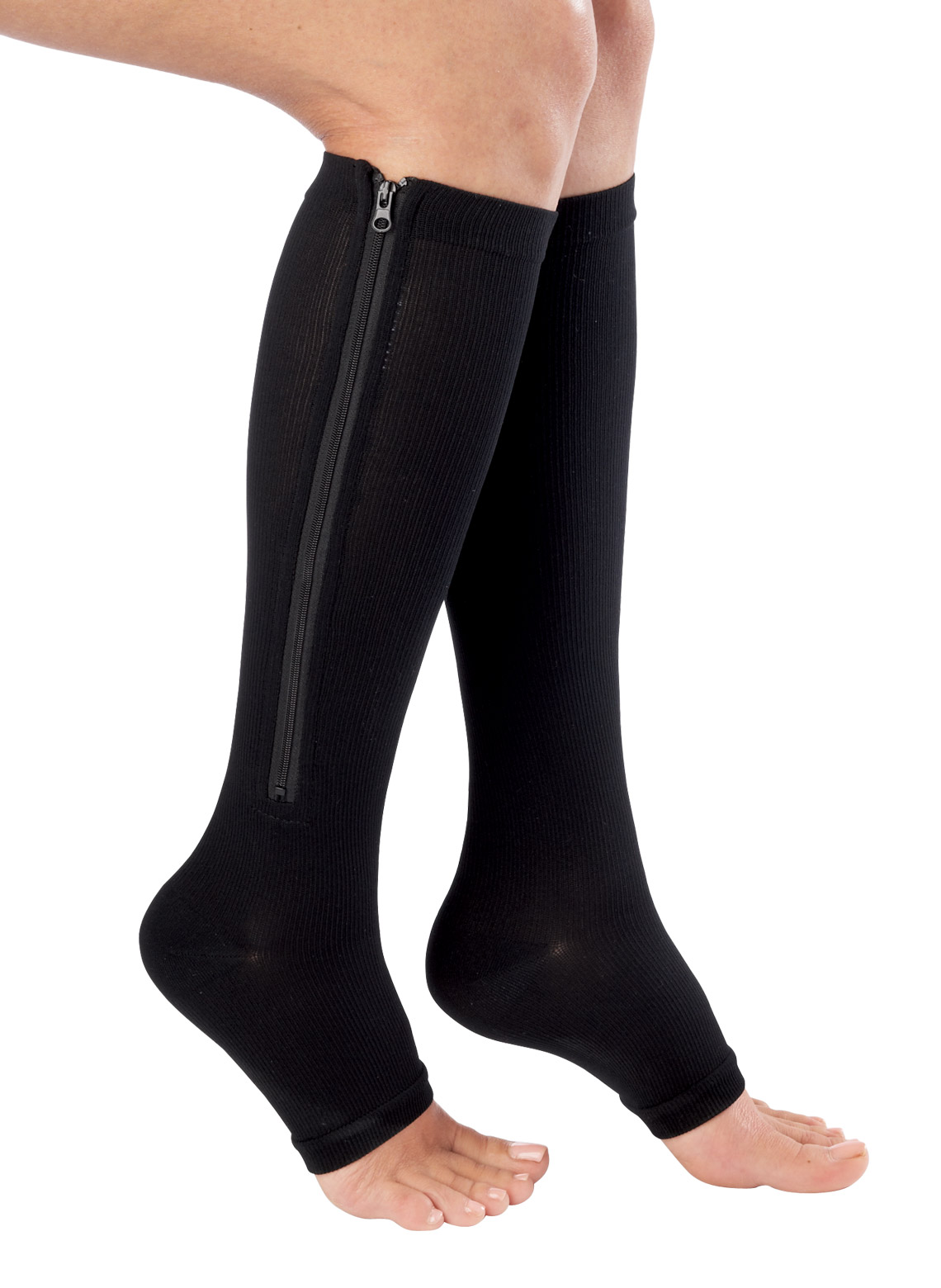 Zippered Compression Knee Highs Carolwrightgifts Com